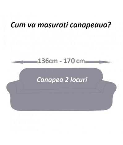Husa canapea 2 locuri culoare ROSU/ Waterproof