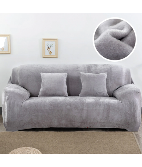 Husa canapea 2 locuri Gri catifea Model Nou