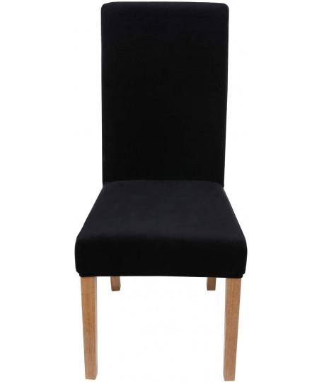 Husa scaun catifea negru