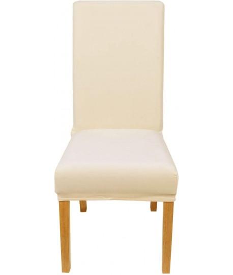 Husa scaun catifea bej